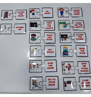 In the Classroom - Puzzle Magnet Set